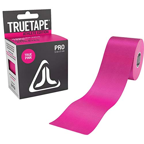TRUETAPE® PRO - Kinesiologie Tape | Perfekter Tragekomfort | 5m x 5cm | ungeschnitten | Innovatives Synthetikmaterial | Kinesiotape | Pink