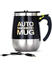 Automatische Koffiesap-Mengbeker, 400 Ml Magnetische Beker, Oplaadbare Elektrische Roestvrijstalen Beker Zonder Lepel, Kantoor Slimme Mixer Voor Warme Dranken
