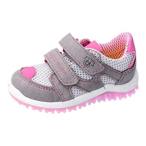 RICOSTA Kinder Low-Top Sneaker Pepe von Pepino, Weite: Mittel (WMS), Maedchen Kinderschuhe toben,Graphit/grau/rosa,25 EU / 7.5 Child UK