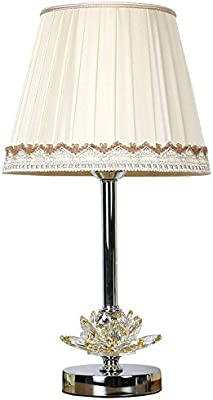 JINSH Home Lámpara de Mesa Dormitorio Mesa de Cristal de Loto lámpara de Mesa de Cristal de Hotel lámpara de Mesa de Cristal