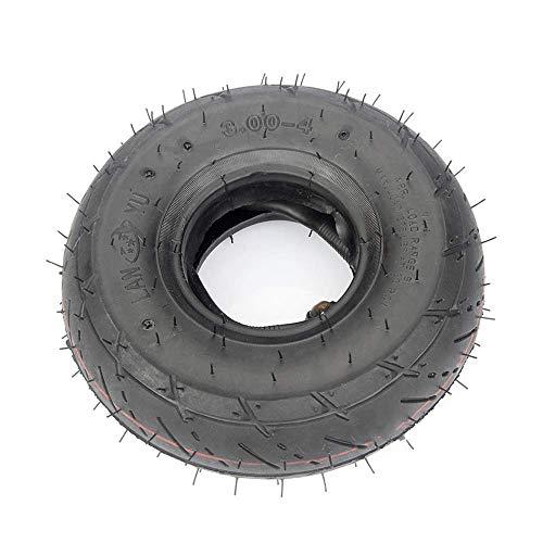 DLILI Neumáticos de Scooter eléctrico, neumáticos Interiores y Exteriores inflables 3.00-4, Resistentes al Desgaste y Antideslizantes, adecuados para pequeños Accesorios de ATV/Scooter de 4 rued