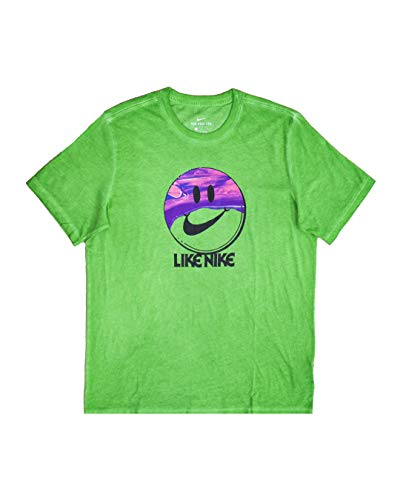 Nike M NSW Tee SPBRK Like NK Dye T-Shirt, Mean Green, L Uomo