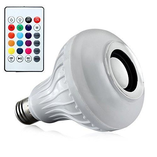 Lampada Led 12w Rgb Caixa Som Bluetooth 2 Em 1 Mp3 Musicbulb