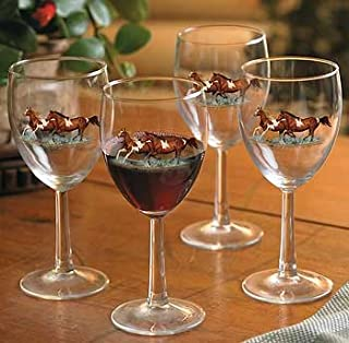 Best white horse glass Reviews