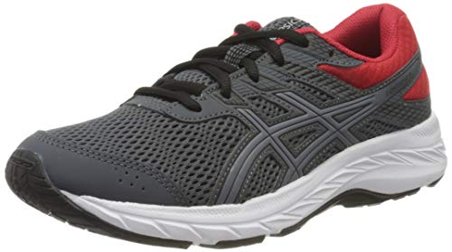 ASICS Unisex-Child Contend 6 GS Running Shoe, Carrier Grey/Sheet Rock, 33 EU
