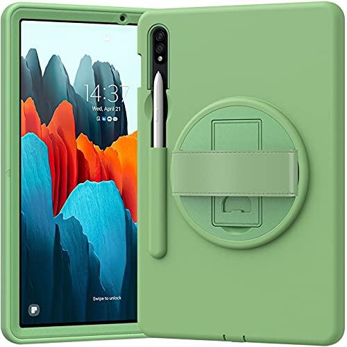 HHF Pad Accesorios para Samsung Galaxy Tab S7 11 T870 T875, Slot de Pluma Anti-Gota Silicona Ordenador Personal Funda Trasera Protectora de Soporte para Samsung Galaxy Tab S7 11 T870 T875