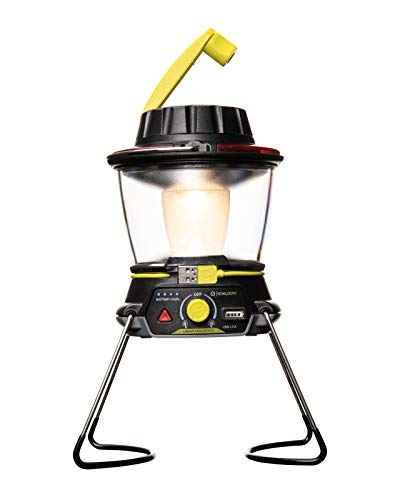 Goal Zero Lighthouse 600 Camping Lantern, Solar Lantern 600 Lumens LED Lantern. Solar Outdoor Lantern Perfect for Camping Gear, Camping Accessories. USB Light Rechargeable Lantern Built-In Hand Crank.