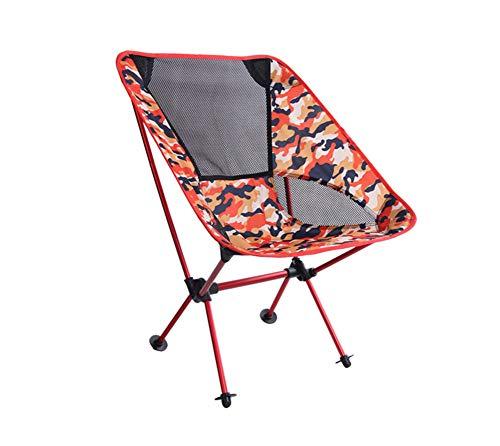 ZJH Chaise Pliante Portable avec Sac de Rangement, Portable, Respirant, Confortable pour extérieur, Camp, Pique-Nique, randonnée, Multicolore en Option,C