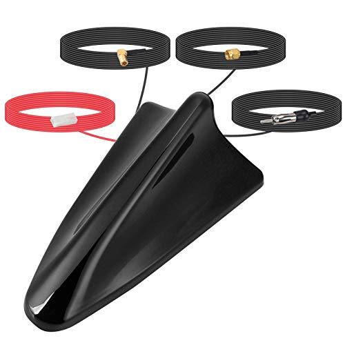 ORROKER DAB + Antenne, DAB Car Shark Fin Antenne SMB GPS Adapter Universaldach Digitaler Funksignalempfänger Booster Verstärker mit 5m Verlängerungskabel