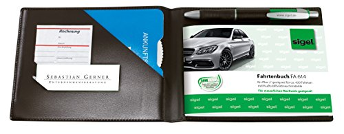 SIGEL EF610 Einband für Formularbücher A6 quer, mit Einstecktaschen und Stifthalter, schwarz
