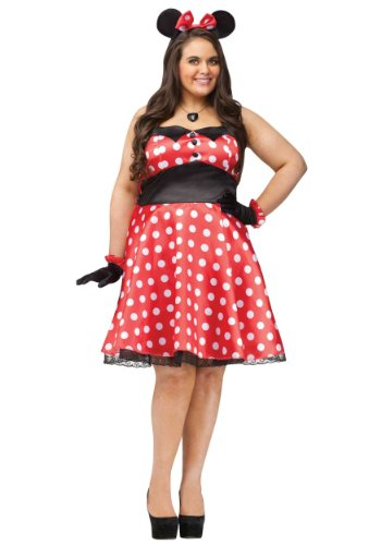 Plus Retro Miss Mouse Costume Plus