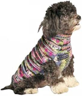 Chilly Dog Purple Woodstock Dog Sweater, Small