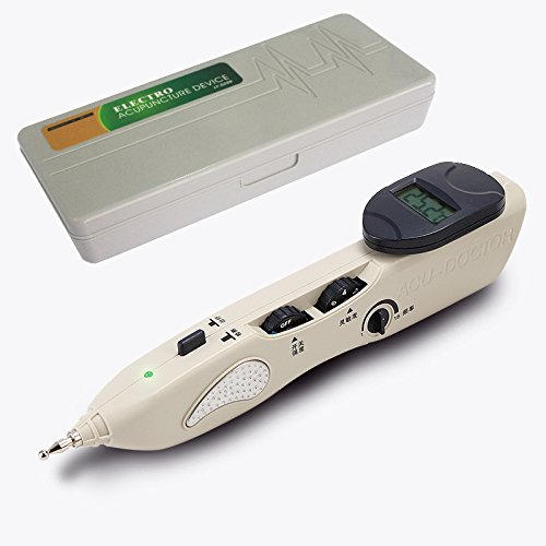 Romonacr Electronic Acupuncture Pen Energy Meridian Massage Pen Pointer Meridian Stimulator Laser Moxibustion Pain Relief