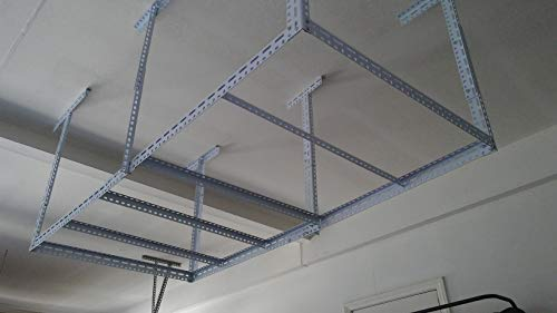 Heavy Duty 48'×96' Overhead Garage Storage Ceiling Rack Ceiling Mount Garage Organization Rack...