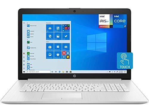 "HP Laptop, 17.3"" HD+ Touchscreen, Intel 11th Gen Core i7-1165G7 Processor, 8 GB DDR4 Memory, 1 TB HDD Storage, DVD-Writer, Windows 10 Home, BesTry Accessory Bundle"