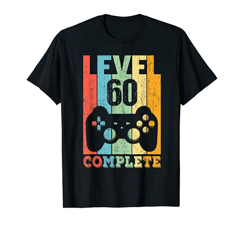 60 Años Cumpleaños Hombre Mujer Regalo Divertido Level 60 Camiseta