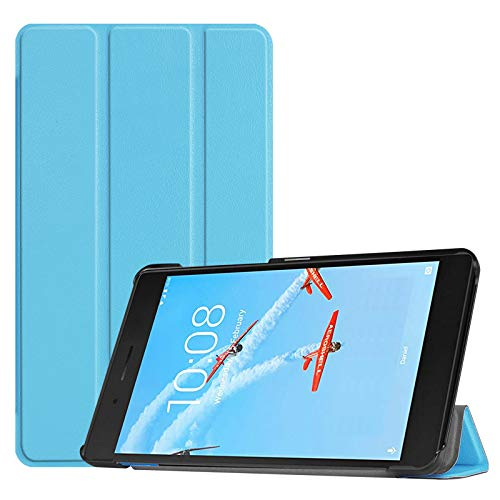 Lobwerk Hülle für Lenovo Tab E7 TB-7104F 7 Zoll Smart Cover Etui mit Standfunktion & Auto Sleep/Wake Funktion Hellblau