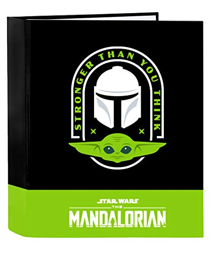 Safta The Mandalorian Ringbuch, 4 Ringe, Schwarz/Neongrün, 320 x 140 x 440 mm (512041657)