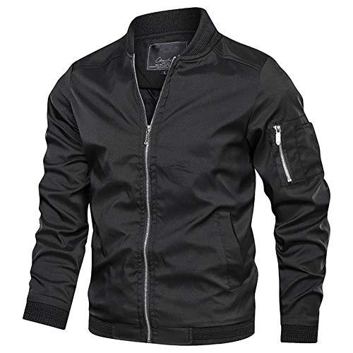 NAVEKULL Men's Lightweight Bomber Jacket Casual Spring Fall Softshell Slim Flight Coat Outerwear