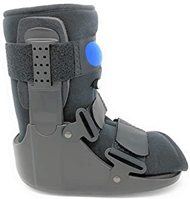 Superior Braces Low Top, Low Profile Air Pump CAM Medical Orthopedic Walker Boot for Ankle & Foot Injuries, Black (Small) Men's Shoe Size 4 1/2 - 7, Female Shoe Size 6 - 8