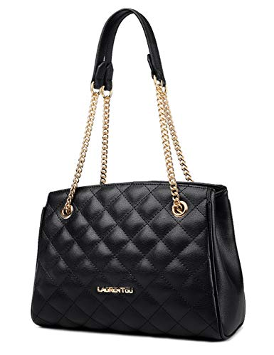 """▶ 【Dimension】- !!!Pls kindly check the size of the quilted handbag before purchase, avoid buying bags that don't meet your expectations. This leather quilted purse with chain strap measures about 10.55"""" L x 4.52"""" W x 7.87"""" H ( L 26.8cm x W 11.5cm x H..."""