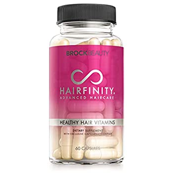Hairfinity Hair Vitamins - Scientifically Formulated with Biotin Amino Acids and a Vitamin Supplement That Helps Support Hair Growth - Vegan - 60 Veggie Capsules  1 Month Supply