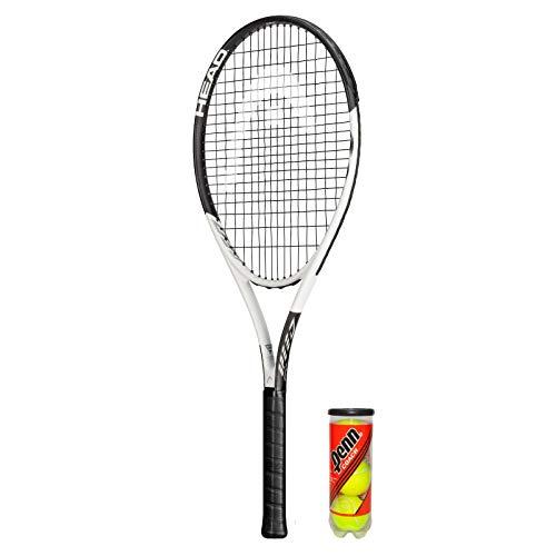 HEAD GEO Speed - Raqueta de tenis (grafito, incluye funda protectora y 3 pelotas de tenis), tamaño de agarre L2