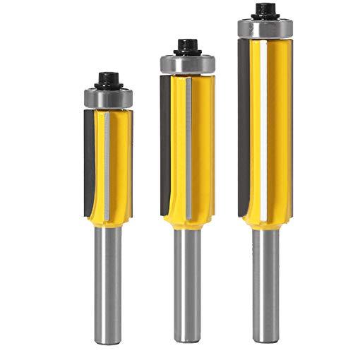 qipuneky fresadora con vástago de 8 mm, para MDF, aglomerado, contrachapado y otros paneles compactos (Metal)