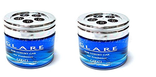 Glare Marine Squash Car Air Freshener Clear Blue x 2
