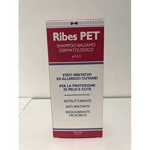 RIBES PET SHAMPOO BALSAMO 200 ml - Contro le allergie e il prurito per cane e gatto.