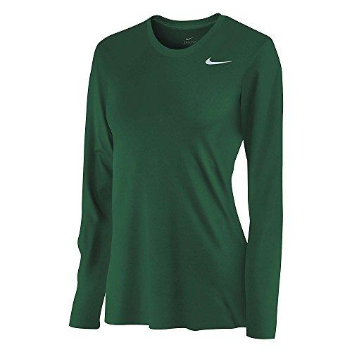 Nike Women's Green LS Poly-top Shirt