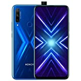 Honor 9X 6.59, 128GB, 6GB RAM, Triple Camera, Dual SIM GSM Unlocked No Warranty US- STK-LX3 (Blue, 128 GB)