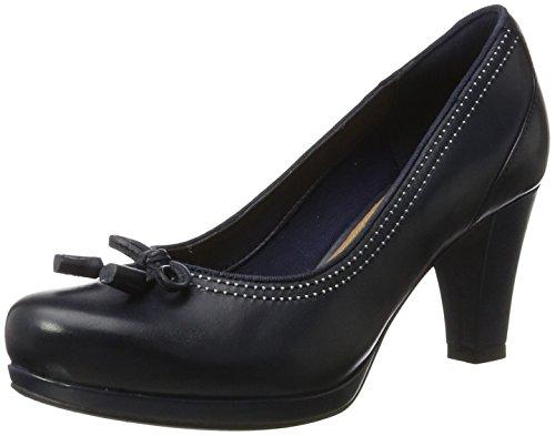 Clarks Chorus Bombay, Zapatos de Tacón para Mujer, Negro (Black Leather), 37...