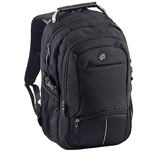 AOKING Rucksack Sport Reise Wander Schule Tasche Canvas Day Back Pack Outdoor schwarz