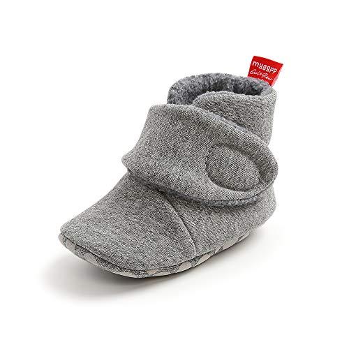 TMEOG Stivali per Neonate, Stivaletti Comodi in Pile per Pantofole Aantiscivolo per Bambini Neonati Primi Passi Calzini Invernali Caldi Scarpe