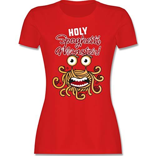 Statement - Holy Spaghetti Monster! - M - Rot - Statement - L191 - Tailliertes Tshirt für Damen und Frauen T-Shirt