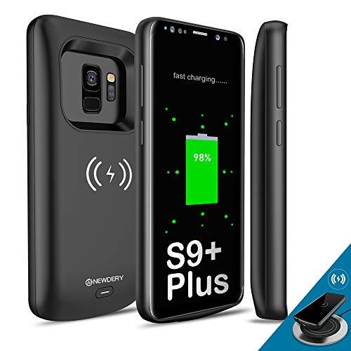 [Verbessert] Samsung Galaxy S9 Plus Akku Hülle Qi mit kabelloser Aufladung, Newdery 5200mAh Slim Wiederaufladbarer, erweiterter Ladegerätkasten Kompatibel mit Samsung Galaxy S9 - (6,2