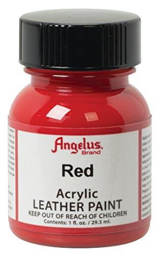 Angelus, Colore acrilico per pelle, 29,5 ml/ Tinta acrilica Angelus, per pelle, rosso, 30g