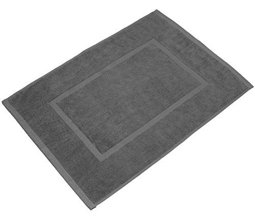 valneo Scendibagno in Puro Cotone Grigio, 50x70cm di Prima qualità 800 g m² - Tapetino per Bagno, Tappeto da Doccia