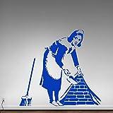YuanMinglu Banque Femme de ménage moisissure Graffiti Femme de ménage décoration...