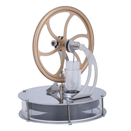 Salinr スターリングエンジンキット 温冷両用 長時間回ります 機械専攻 低温度型 永久機関 低温スターリング エンジンモーター おもちゃ スチールモーター 教育モデルおもち 蒸気エンジンゃ 実験科学&自由研究&蒸気教育 プレゼント 熱蒸気 DIY