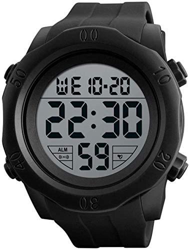 Senior Reloj electrónico Deportivo Multifuncional, Reloj para Exteriores para Hombres, Reloj Digital Impermeable de Moda para Estudiantes, Luminoso/Alarma-UNA