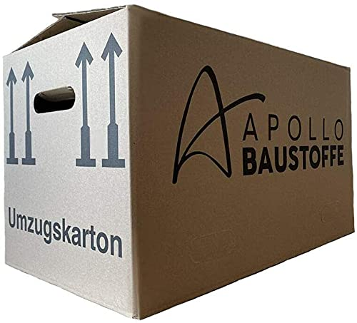 Apollo Baustoffe PROFI UMZUGSKARTONS MOVEBOX 40kg belastbar 2-Wellig STABIL Doppelter Boden- Wählbar zwischen 5 bis 100 Stück (5)