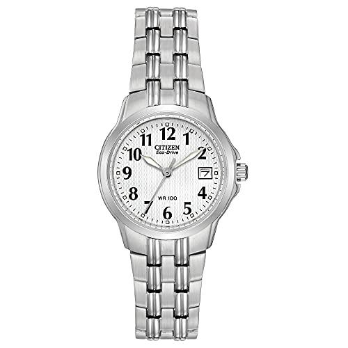 Citizen Eco-Drive Corso Quartz Womens Watch, Stainless Steel, Classic, Silver-Tone (Model: EW1540-54A)