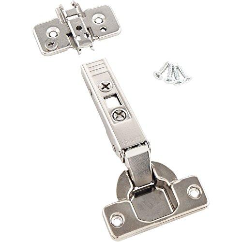 BLUM Clip top Möbel-Scharnier | Möbelband; Eckanschlag, 10 Stück inkl. Montageplatten, Schrauben und Montageanleitung