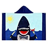Senkora Toalla de Playa Infantil Algodón con Capucha Baño Suave para Niños Bebe Niña Niño Secado Rápido Natacion Unicornio Dinosaurio Sirena Tiburón Estampada Azul Anime Chica Regalos
