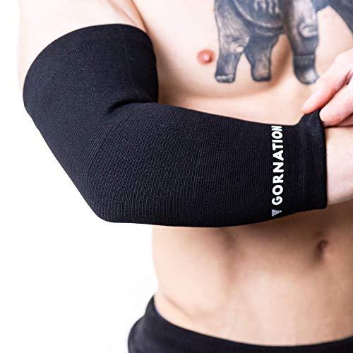CALORE PROTETTIVO - I gomiti sono esposti a stress durante l'allenamento fitness, che può causare dolore e lesioni. L'alta qualità delle fasce per i gomiti garantisce un supporto ottimale per le articolazioni, la parte superiore del braccio e l'avamb...