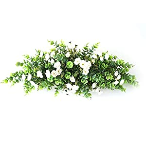 2Krmstr 28 inch Artificial Eucalyptus Leaf Swag, Greenery Wedding Flowers Swag for Front Door Table Centerpiece Wedding Arch Wall Decor