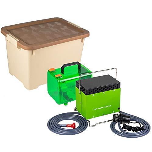 Stoge 3380W Calentador de Agua Instantaneo de Butano Caldera de Gas licuado de petroleo portatil con Tanque de Agua de 20L/Bomba de Agua Inteligente