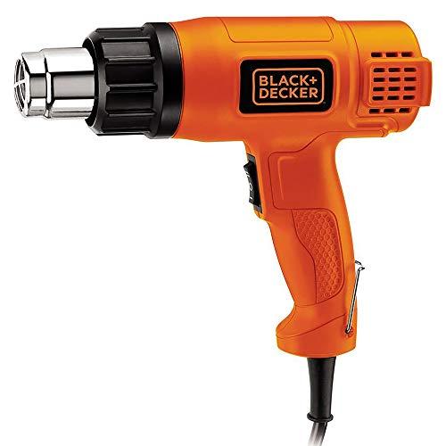 Black+Decker KX1800 - Pistola termica a doppia temperatura, 1800 W, colore: Arancione e Nero